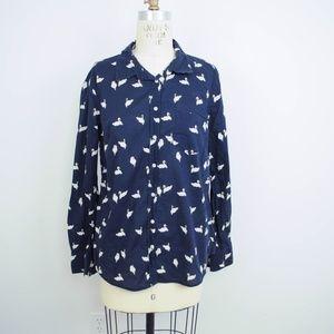 Merona Target Swan Print Button Down Shirt